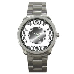 Metal Circle Background Ring Sport Metal Watch by BangZart