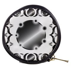 Metal Circle Background Ring Mini Makeup Bags