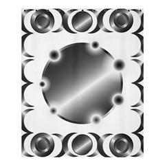 Metal Circle Background Ring Shower Curtain 60  X 72  (medium)