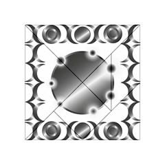 Metal Circle Background Ring Acrylic Tangram Puzzle (4  X 4 ) by BangZart