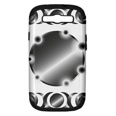 Metal Circle Background Ring Samsung Galaxy S Iii Hardshell Case (pc+silicone) by BangZart