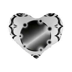 Metal Circle Background Ring Standard 16  Premium Heart Shape Cushions by BangZart