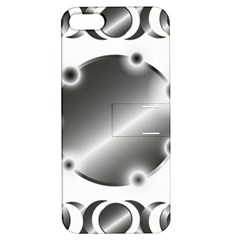 Metal Circle Background Ring Apple Iphone 5 Hardshell Case With Stand