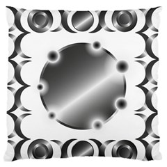 Metal Circle Background Ring Standard Flano Cushion Case (one Side)