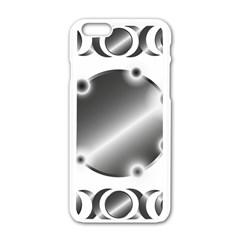 Metal Circle Background Ring Apple Iphone 6/6s White Enamel Case by BangZart