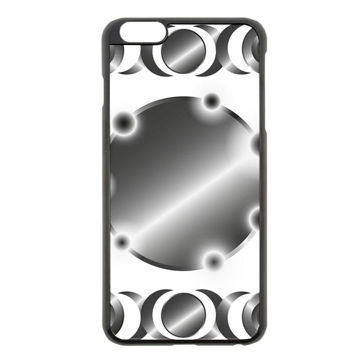 Metal Circle Background Ring Apple iPhone 6 Plus/6S Plus Black Enamel Case