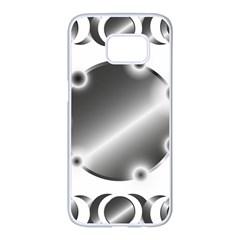 Metal Circle Background Ring Samsung Galaxy S7 Edge White Seamless Case