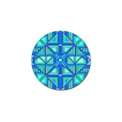 Grid Geometric Pattern Colorful Golf Ball Marker (4 Pack)