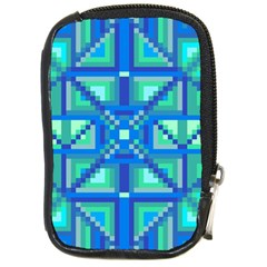 Grid Geometric Pattern Colorful Compact Camera Cases by BangZart
