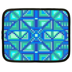 Grid Geometric Pattern Colorful Netbook Case (xxl)