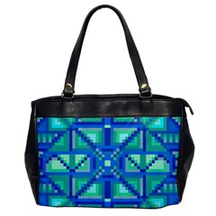 Grid Geometric Pattern Colorful Office Handbags by BangZart