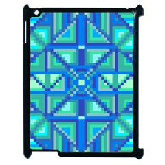 Grid Geometric Pattern Colorful Apple Ipad 2 Case (black) by BangZart