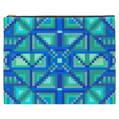 Grid Geometric Pattern Colorful Cosmetic Bag (xxxl)  by BangZart
