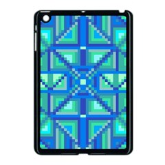 Grid Geometric Pattern Colorful Apple Ipad Mini Case (black) by BangZart