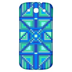 Grid Geometric Pattern Colorful Samsung Galaxy S3 S Iii Classic Hardshell Back Case by BangZart