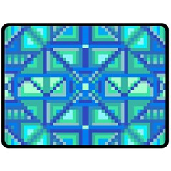 Grid Geometric Pattern Colorful Double Sided Fleece Blanket (large)  by BangZart