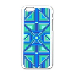 Grid Geometric Pattern Colorful Apple Iphone 6/6s White Enamel Case by BangZart