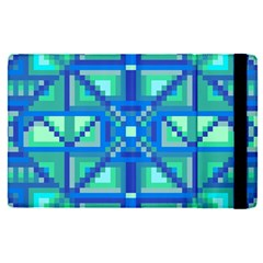 Grid Geometric Pattern Colorful Apple Ipad Pro 9 7   Flip Case by BangZart