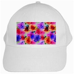 Floral Pattern Background Seamless White Cap by BangZart