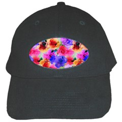 Floral Pattern Background Seamless Black Cap by BangZart
