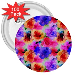 Floral Pattern Background Seamless 3  Buttons (100 Pack)  by BangZart
