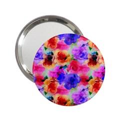 Floral Pattern Background Seamless 2 25  Handbag Mirrors