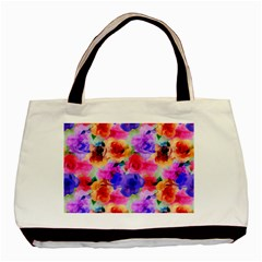 Floral Pattern Background Seamless Basic Tote Bag by BangZart