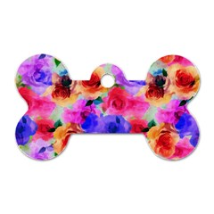 Floral Pattern Background Seamless Dog Tag Bone (two Sides) by BangZart