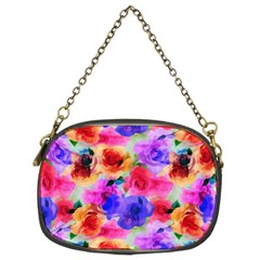 Floral Pattern Background Seamless Chain Purses (two Sides)