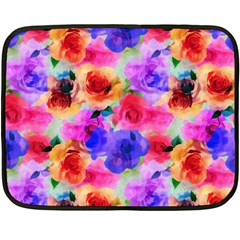 Floral Pattern Background Seamless Double Sided Fleece Blanket (mini)