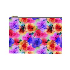 Floral Pattern Background Seamless Cosmetic Bag (large)  by BangZart