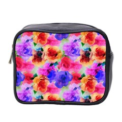 Floral Pattern Background Seamless Mini Toiletries Bag 2 Side
