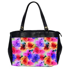 Floral Pattern Background Seamless Office Handbags (2 Sides)  by BangZart
