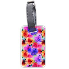 Floral Pattern Background Seamless Luggage Tags (one Side)