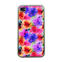 Floral Pattern Background Seamless Apple Iphone 4 Case (clear) by BangZart