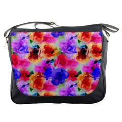 Floral Pattern Background Seamless Messenger Bags by BangZart