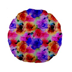 Floral Pattern Background Seamless Standard 15  Premium Round Cushions by BangZart