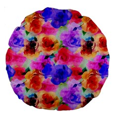 Floral Pattern Background Seamless Large 18  Premium Round Cushions by BangZart