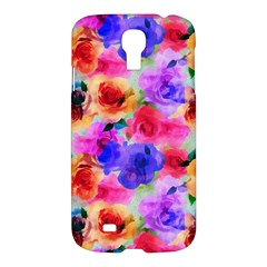 Floral Pattern Background Seamless Samsung Galaxy S4 I9500/i9505 Hardshell Case