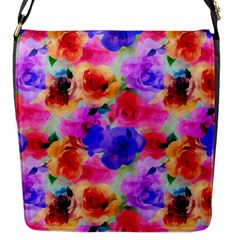 Floral Pattern Background Seamless Flap Messenger Bag (s) by BangZart