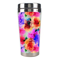 Floral Pattern Background Seamless Stainless Steel Travel Tumblers by BangZart