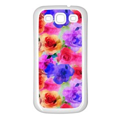 Floral Pattern Background Seamless Samsung Galaxy S3 Back Case (white) by BangZart