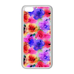 Floral Pattern Background Seamless Apple Iphone 5c Seamless Case (white) by BangZart