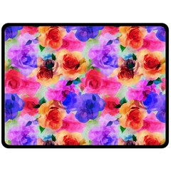 Floral Pattern Background Seamless Double Sided Fleece Blanket (large)  by BangZart