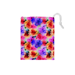 Floral Pattern Background Seamless Drawstring Pouches (small)  by BangZart