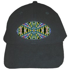 Kaleidoscope Background Black Cap by BangZart