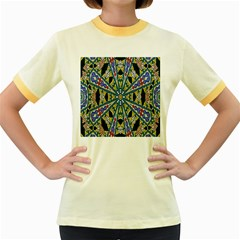 Kaleidoscope Background Women s Fitted Ringer T Shirts