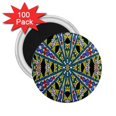 Kaleidoscope Background 2 25  Magnets (100 Pack)