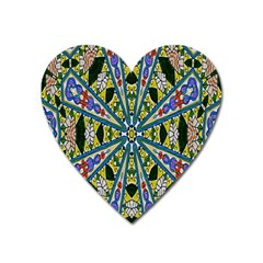 Kaleidoscope Background Heart Magnet