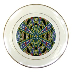 Kaleidoscope Background Porcelain Plates by BangZart